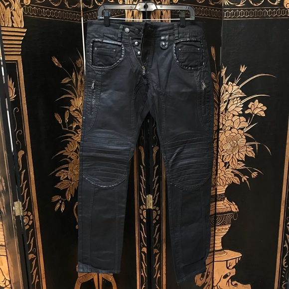 50% price world-wide selection of sneakers Absolut Joy denim and leather pants with details